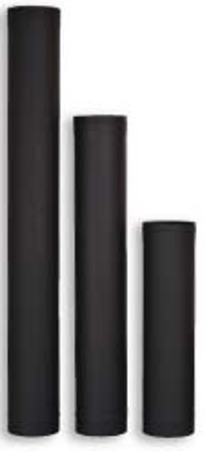 "Ventis Black Single Wall Stove Pipe - 7"""