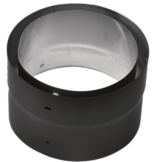 Ventis Double Wall Black Stove Pipe Class-A Adapter