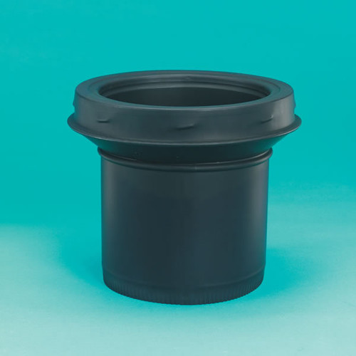 DSP Double-Wall Black Stovepipe to Chimney Adaptor - 6""