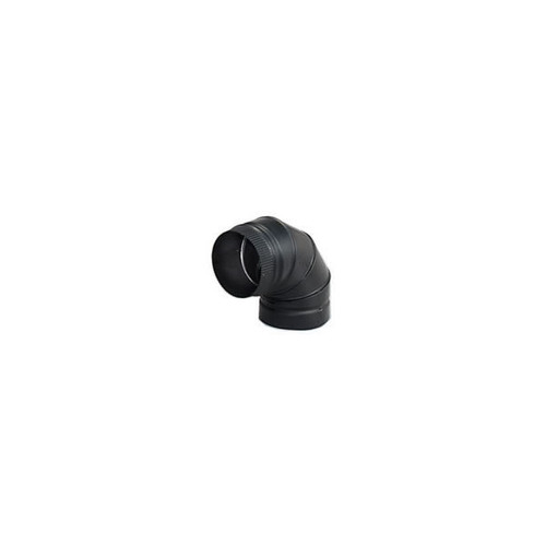 DSP Double-Wall Black Stovepipe 90 degree sectioned nonadjustable elbow