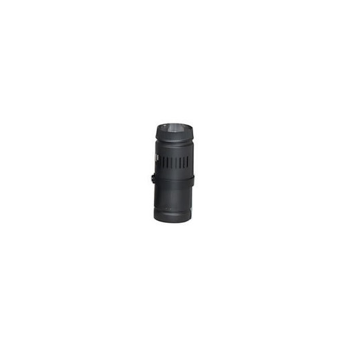 "DSP Double-Wall Black Telescoping Stovepipe 8"" x 12"" to 18"" length"