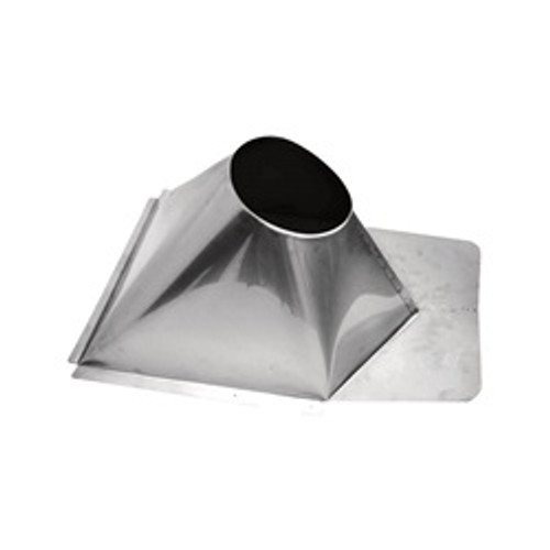 """6"""" Ventis Class-A All Fuel Chimney, 304L Stainless, Non-Vented Metal Roof Flashing"""