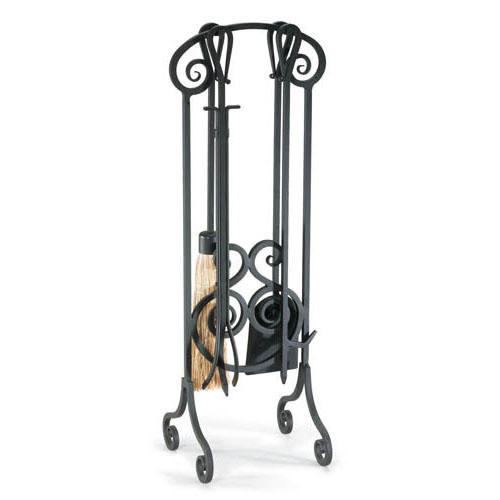 """Napa Forge Antique Scroll Fireplace Tool Set - Brushed Bronze - 33"""" H"""