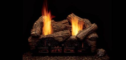 Monessen Highland Oak Vent Free Gas Logs - Choose Size