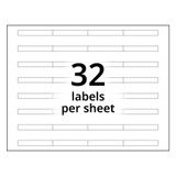 A4 4-Bank Clear Adhesive Tab Labels