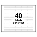 A4 5-Bank Clear Adhesive Tab Labels