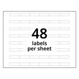 A4 6-Bank Clear Adhesive Tab Labels