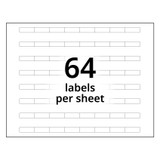 A4 8-Bank Clear Adhesive Tab Labels