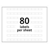 A4 10-Bank Clear Adhesive Tab Labels