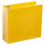 A4 3 Inch Yellow 4-Ring Binder