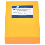 A4 24lb Galaxy Gold Colored Paper