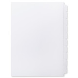 A4 10-Bank Mylar Coated Tab Stock (Blank Printable Tabs, Box Of 22 Sets)