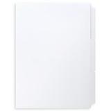 A4 3-Bank Mylar Coated Tab Stock (Blank Printable Tabs, Box Of 74 Sets)