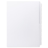 A4 10-Bank Uncoated Tab Stock (Uncoated Blank Tabs, Box Of 25 Sets)