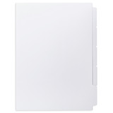 A4 5-Bank Uncoated Tab Stock (Uncoated Blank Tabs, Box Of 50 Sets)