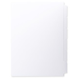 A4 6-Bank Uncoated Tab Stock (Uncoated Blank Tabs, Box Of 42 Sets)