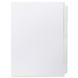 A4 8-Bank Uncoated Tab Stock (Uncoated Blank Tabs, Box Of 32 Sets)