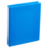A4 1 Inch Process Blue 4-Ring Binder