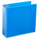 A4 3 Inch Process Blue 4-Ring Binder