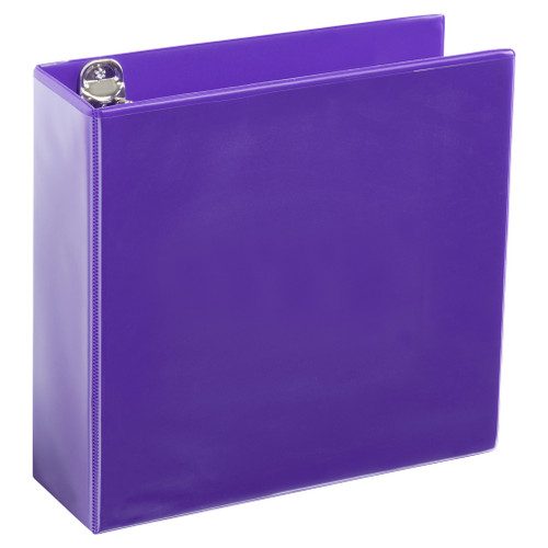 A4 3 Inch Purple 4-Ring Binder
