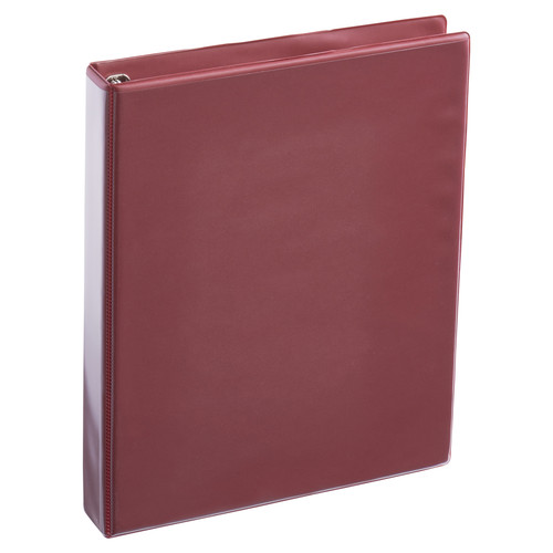 A4 1 Inch Burgundy 4-Ring Binder