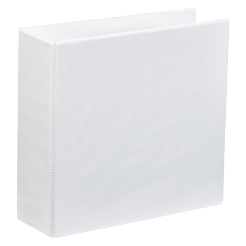 A4 Lever Arch 2 Ring Clear View 3 Inch Binder White