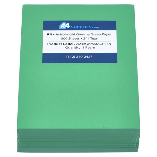 A4 24lb Gamma Green Paper