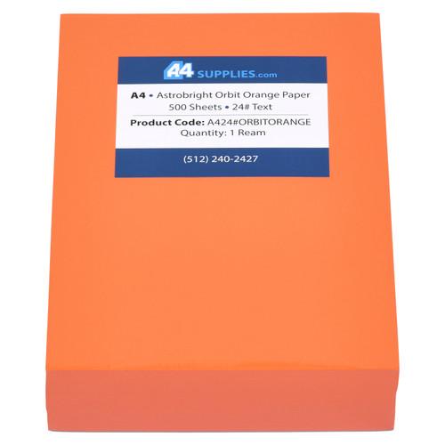 A4 24lb Orbit Orange Paper