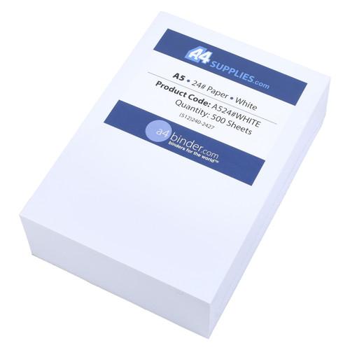 A5 24lb White Paper