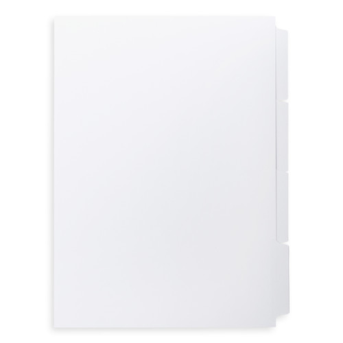 A4 4-Bank Mylar Coated Tab Stock (Blank Printable Tabs, Box Of 55 Sets)
