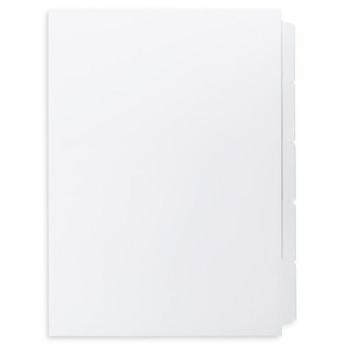 A4 5-Bank Mylar Coated Tab Stock (Blank Printable Tabs, Box Of 44 Sets)