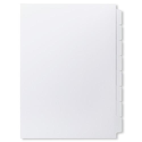 A4 8-Bank Mylar Coated Tab Stock (Blank Printable Tabs, Box Of 28 Sets)