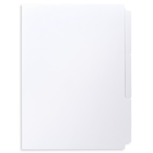 A4 3-Bank Uncoated Tab Dividers (Uncoated Blank Tabs, Box Of 84 Sets)