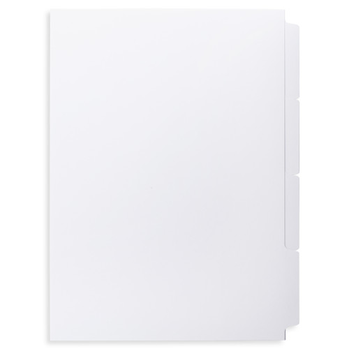 A4 4-Bank Uncoated Tab Stock (Uncoated Blank Tabs, Box Of 63 Sets)