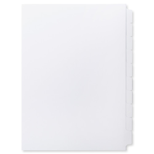 A4 10-Bank Mylar Coated Tab Stock (Blank Printable Tabs, By The Set)