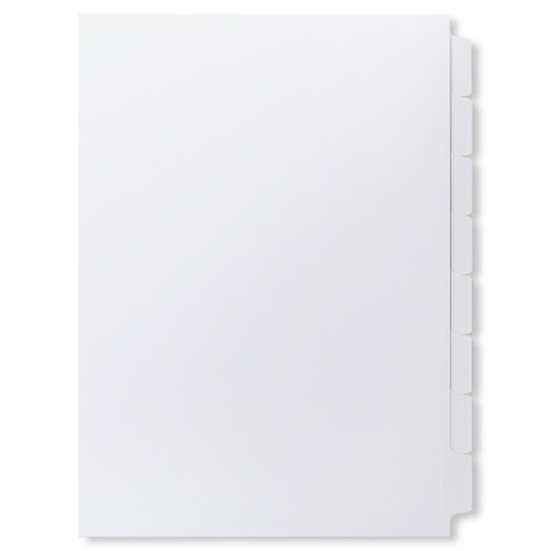 A4 8-Bank Mylar Coated Tab Stock (Blank Printable Tabs, By The Set)