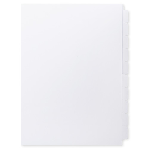 A4 10-Bank Uncoated Tab Stock (Uncoated Tab Dividers, By The Set)