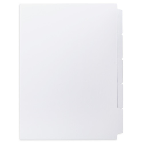 A4 5-Bank Uncoated Tab Stock (Uncoated Tab Dividers, By The Set)