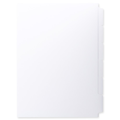 A4 6-Bank Uncoated Tab Stock (Uncoated Tab Dividers, By The Set)
