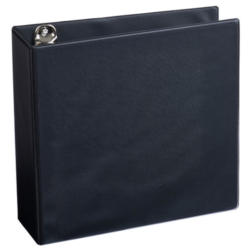 "Black A4 3"" 4-Ring View Binder"