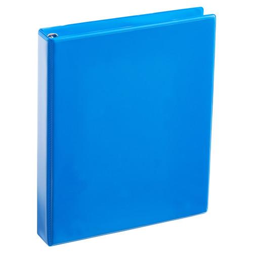 A4 1 Inch Process Blue 4-Ring Binder
