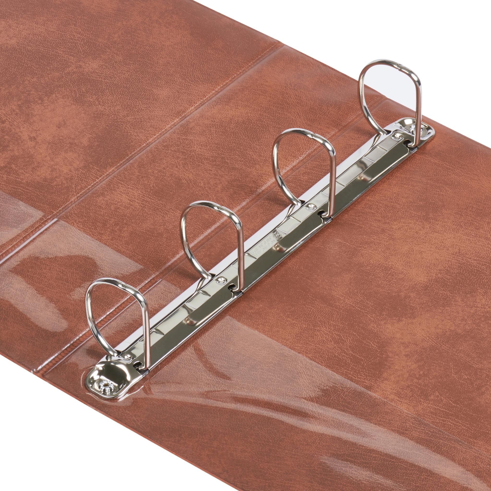 A4 Pecan 4-Ring Binders