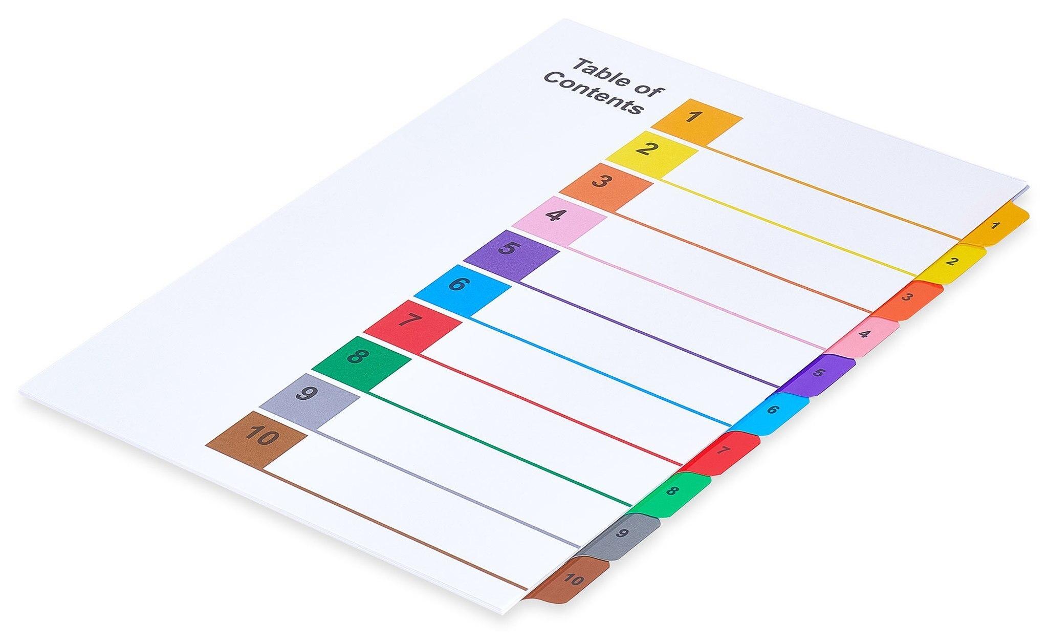 A4 Multi-Color Tabs