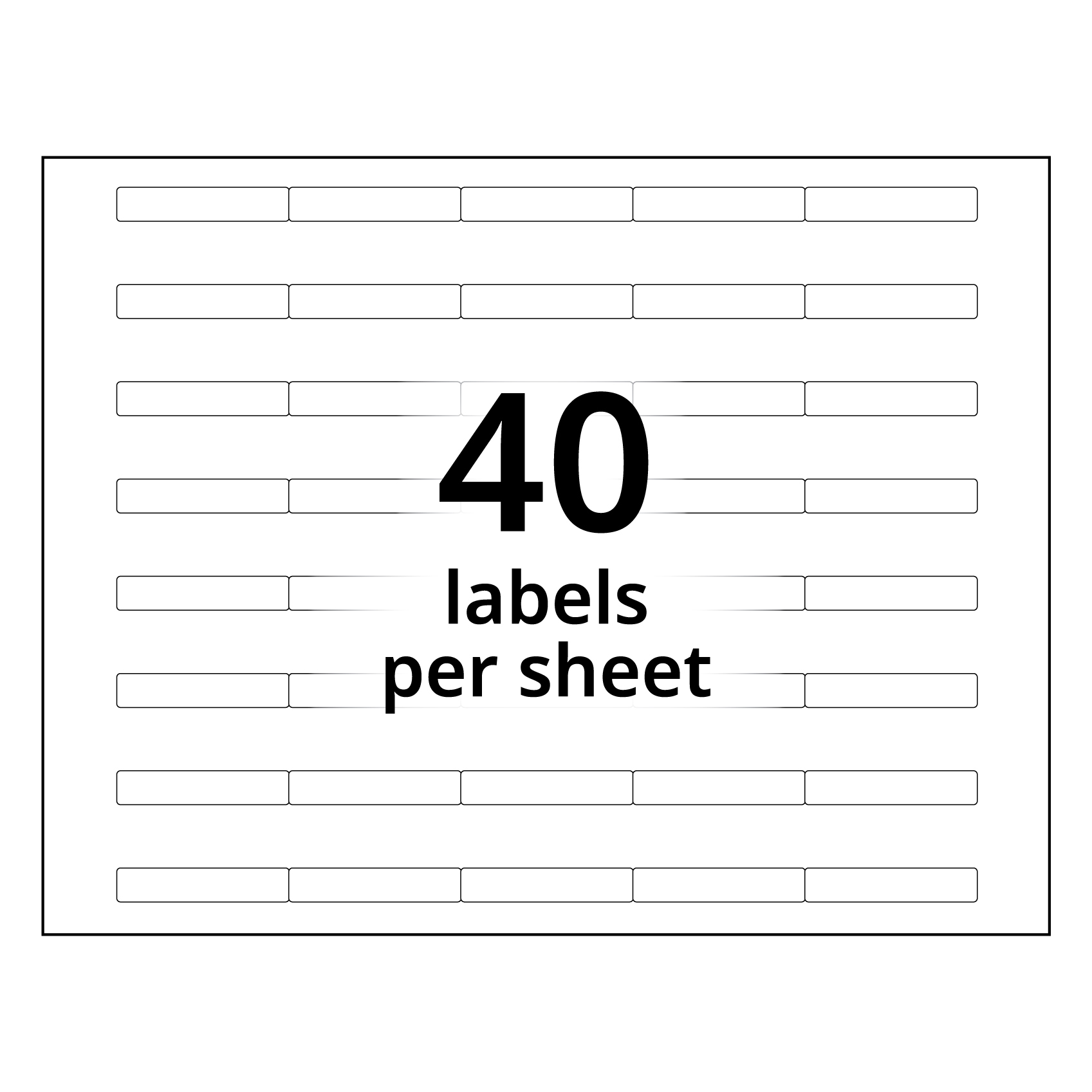 A4 Clear Tab Labels