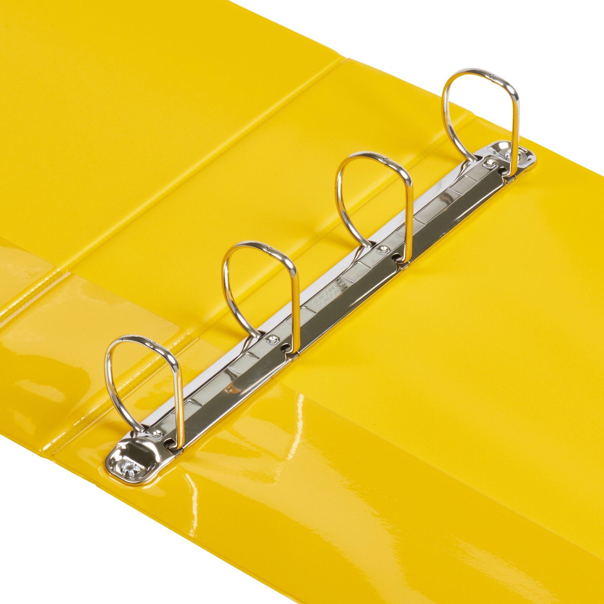A4 Yellow 4-Ring Binders