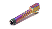 Sig P320 Compact Flame Fluted Barrel, 9mm, 416-R, Nitride, Threaded, Rainbow Coated