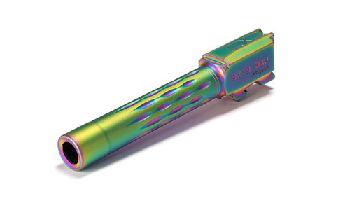 M&P Full Size Flame Fluted Barrel, 9mm, 416-R, Nitride, Non-Threaded, Rainbow Coated