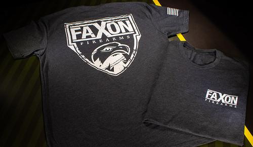 Faxon Firearms Charcoal Gray Logo T-shirt
