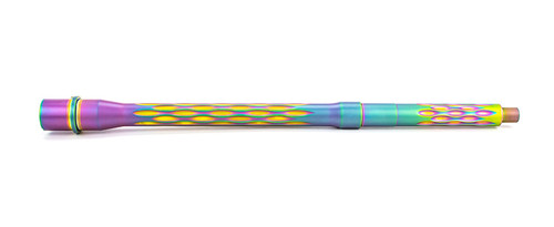 """*Limited Edition* - Match Series- 14.5"""" Flame Fluted, 223 Wylde, 5R, 416R, Nitride, Chameleon PVD"""