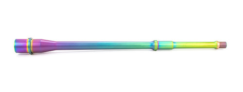 """*Limited Edition* Match Series- 14.5"""" Pencil, .223 Wylde, Mid-Length, 416R, Nitride, 5R, Nickel Teflon Extension, Chameleon PVD"""